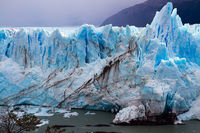 On the glacier formed Calgaspors -