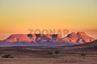 Brandberg Mountain sunrise in Namibia, Africa