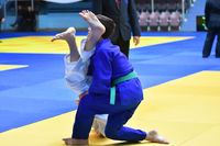 Orenburg, Russia - October 21, 2017: Boys compete in Judo at the all-Russian Judo tournament among b