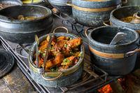 Traditional Brazilian food and wood stove
