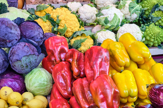 Paprika, Kohl und verschiedene Arten von Brokkoli