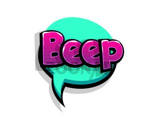 Comic text bleep beep logo sound effects