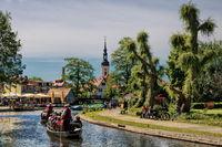 Lübbenau, Deutschland - 23.05.2019 - traditionelle kahnfahrt im spreewald