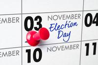 Election Day, November 3