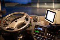 Cockpit of a bus