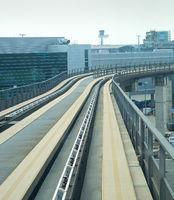 Railroad modern transit train airport