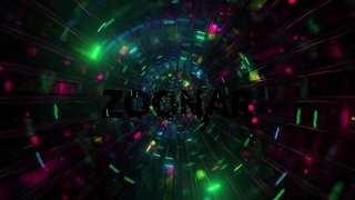 Cool glass tunnel glowing space particles 3d illustration background wallpaper design artwork