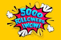 5000 followers thank you for media like