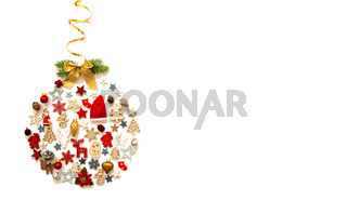 Christmas Ball, Decoration And Ornament, Copy Space, Isolated Background