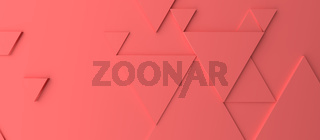 Abstract modern red triangle background
