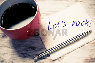 Time for cup of coffee