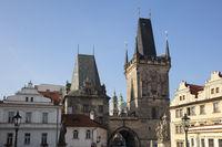 Bridge tower, Prague, Bohemia, Czech Republic, Europe