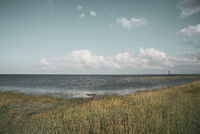 Landscape at the mouth of the Weser by Fedderwardersiel