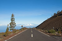 Highway, Teide National Park, Tenerife, Canary Islands, Spain, Europe