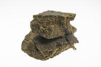 medical marijuana moroccan cannabis pollen hashish closeup in morocco