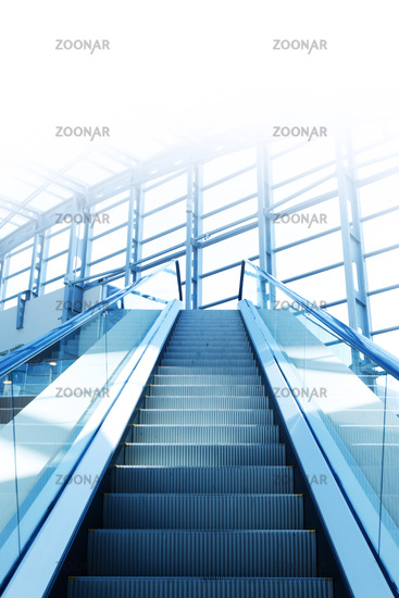 Escalator toned blue