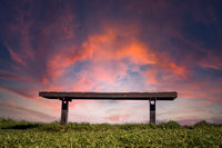 Sunset over Bench