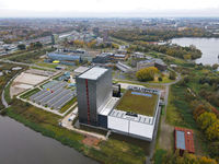 Amsterdam, The Netherlands, 25 October 2020 Amsterdam Science Park University aerial