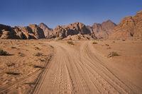 Desert Wadi Rum in Jordan