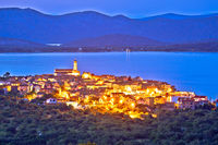 Murter island. Mediterranean town of Betina evening view, Island of Murter