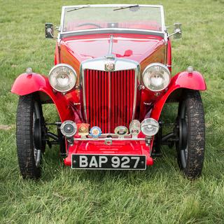 Vintage MG TA sportscar