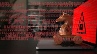 Wooden Emotet Trojan Horse Notebook Data