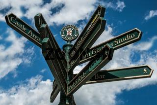 Hinweisschild in York