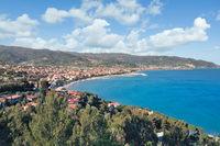 Diano Marina at italian Riviera,Liguria,mediterranean Sea,Italy