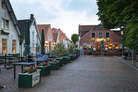 Public houses at the market of Greetsiel