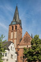 bitterfeld, germany - 19.06.2019 - st. -antonius- church