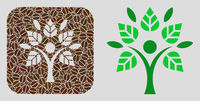 Hole Mosaic Eco Man of Coffee Seeds