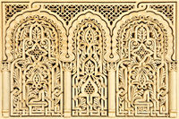 Moroccan arabic carving