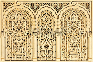 marokkanische arabische Schnitzkunst