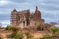 ruins of Guzara royal palace, Gondar Ethiopia Africa