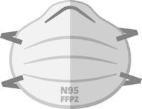 simple FFP2 N95 face mask respirator