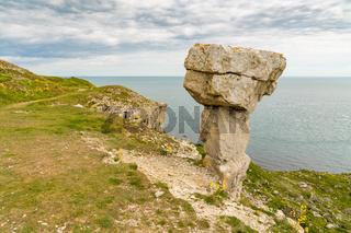 Quarry Ruins at St Aldhelm's Head, Jurassic Coast, Dorset, UK