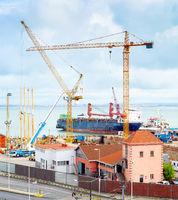 industrial commercial ship Lisbon port
