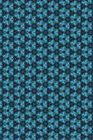 Bright blue and orange background intricate filigree seamless Pattern.