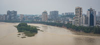 Panorama of Leshan town in China