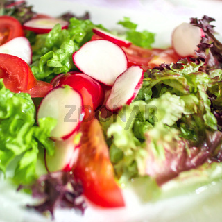 Fresh vegetable italian salad