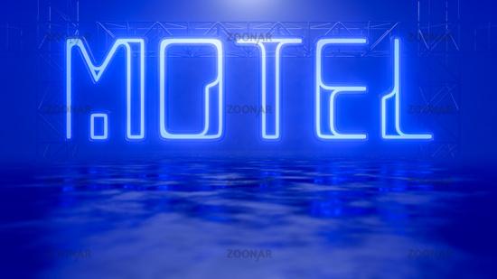 neon light sign motel