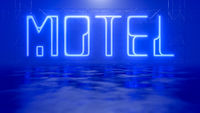 neon light sign motel