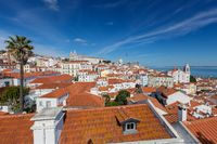 Historic old district Alfama in Lisbon