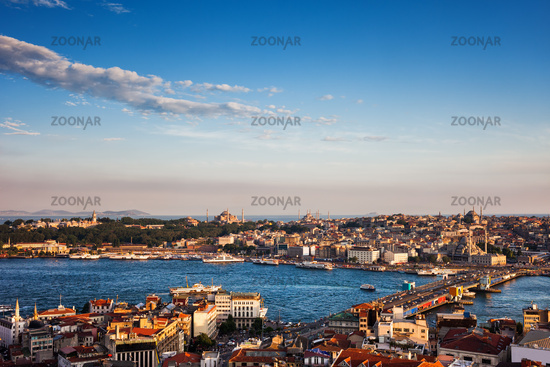Istanbul City at Sunset in Turkey