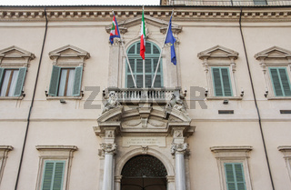 The Quirinal Palace in Rome Italy