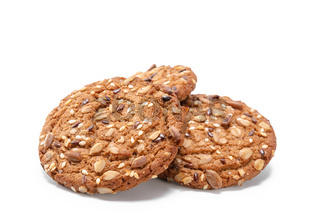 oatmeal cookies sprinkled with cereal grains