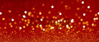 Golden christmas bokeh