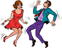 A couple dancing. Music party