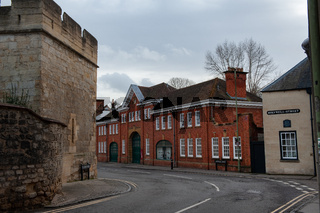 The William Morris Garage on Long Wall Street, Oxford, England