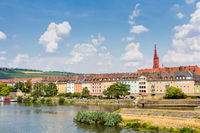 Bank of the Main river in Wurzburg, Germany